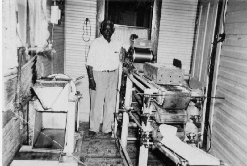 Rosie's Grandpa (Duran) with his tortilla machine.