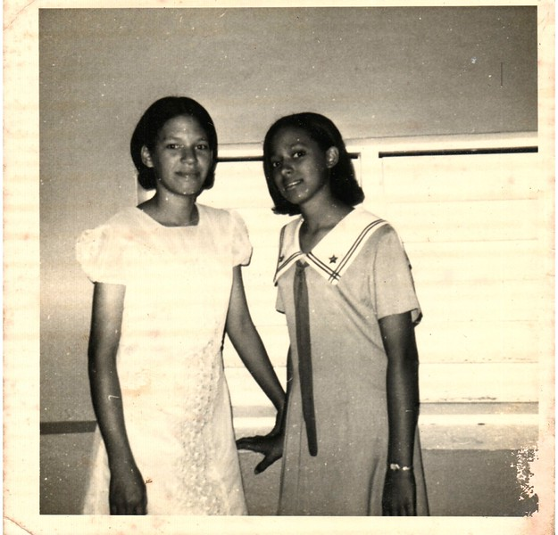My mother is on the right.