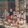 Christmas at Marshall & Jean Ellis' home.  Danny Ellis, Bubba Ellis, Billy Ellis, Bobby Ellis, Morris Lee (Aunt Aver's Grandson), Alan Ellis, Steven (Aunt Aver's Grandson) Glenn Ellis, Marsha Ellis and David Ellis