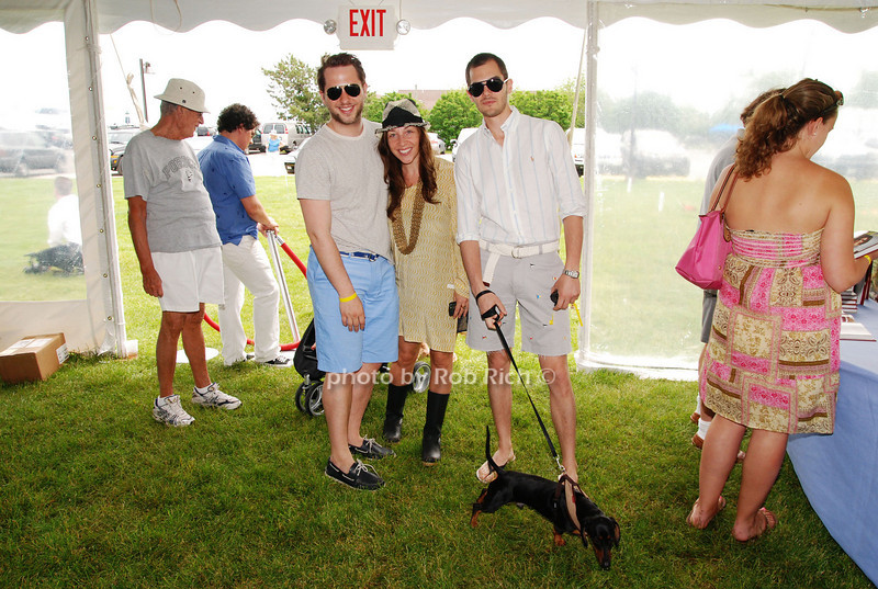 Derek Blasberg, Sharron Ginsberg ad Lyle Maltz<br /> photo by Rob Rich © 2009 robwayne1@aol.com 516-676-3939
