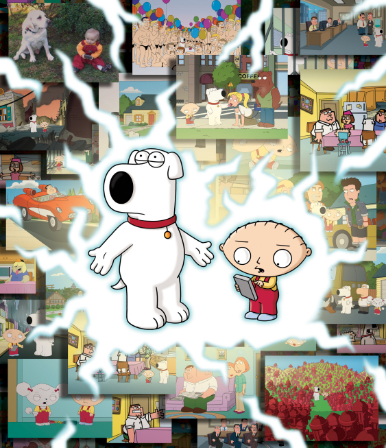 ". Stewie and Brian travel to multiple universes in the ""Road to the Multiverse\""  on FAMILY GUY. (2009/Fox)"