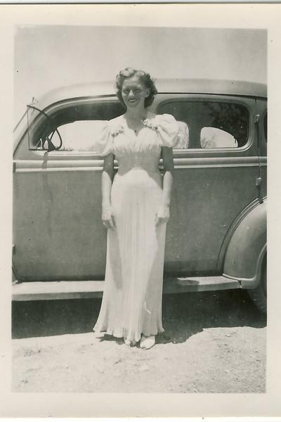 Larry's mom, Abbie, at her high school graduation ~ 1940