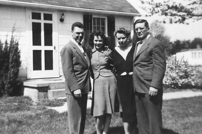Bill and Patricia Bookless, Anna and Vincent Finan