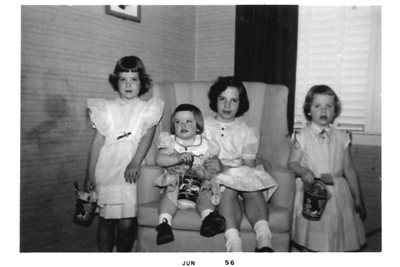 Lohmanns, June 1956 (Mary, Dot, Cathy, Peggy)