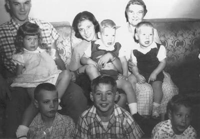 1 17 2014 Grandma and her grandchildren, about 1962