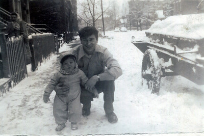 2 5 2014 Dad and Tommy, with Aunt Annie in back, Chicago, winter 1946-47 CIMG1164