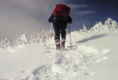 2 4 2014  Tom, climbing St Regis Mt, Feb 4, 1979 PICT9594