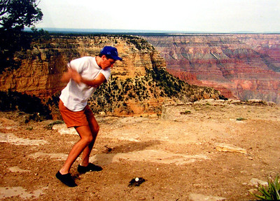 1 6 14 Dave, teeing off at Grand Canyon, april, 1992