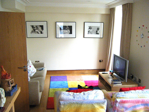 The family room on the ground floor.