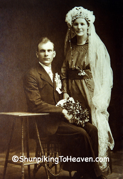Our Grandparents on Their Wedding Day, Sauk County, Wisconsin
