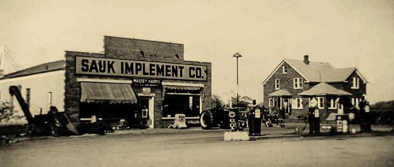 Sauk Implement Company, c. 1949, Sauk City, Wisconsin