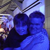 Chico & Dad in the Blue Cafe at the Science Museum.