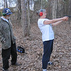 Kathy shooting a Glock, Georgia 2011 with coaching from GeePa