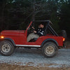 Jon and GeePa in the jeep Xmas 2003
