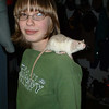 Mary and pet rat.