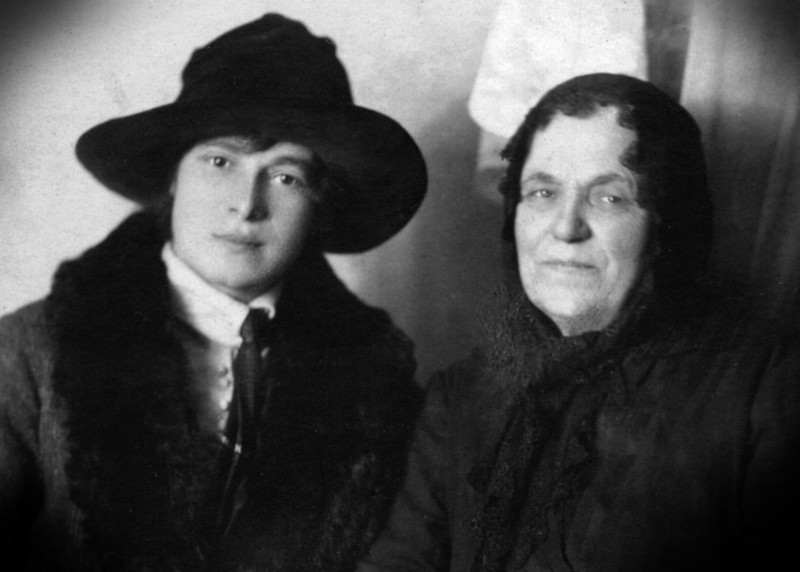 Mary Stezer and mother in Hungary ~1905-1910