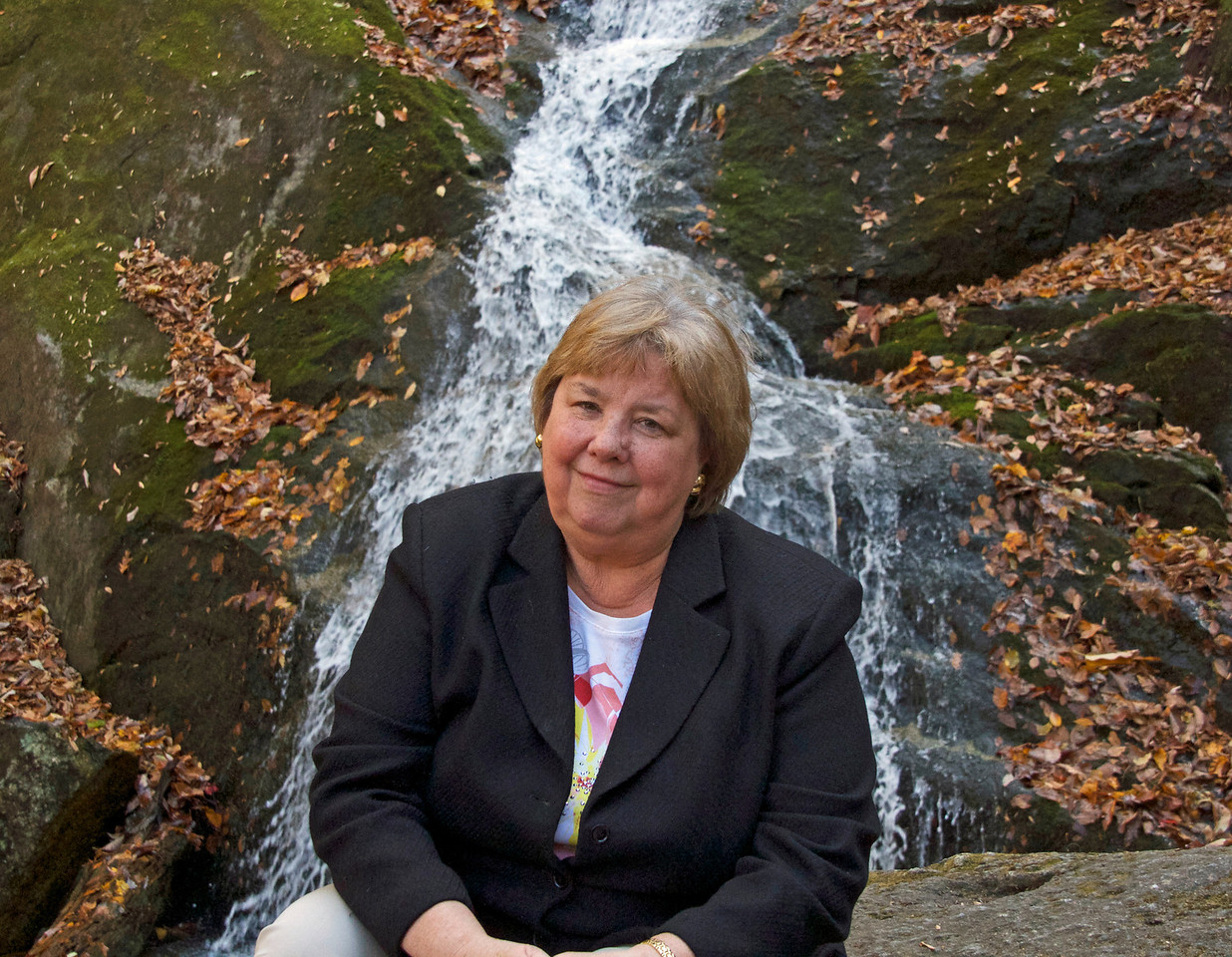 Martha at Crabtree Falls