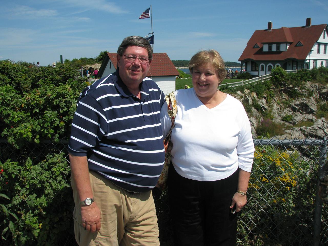 Martha and I at Portland Head Lighthouse.