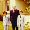 Elias Nathanson and sons Andrew and Elliot in 1979