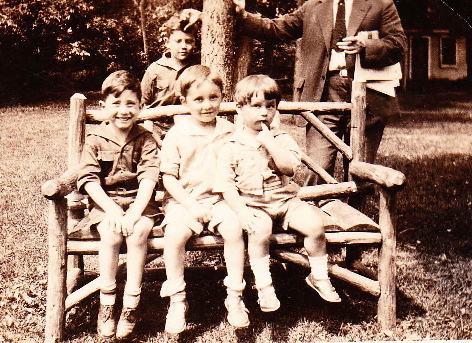 Bert (sitting in the front) with ?