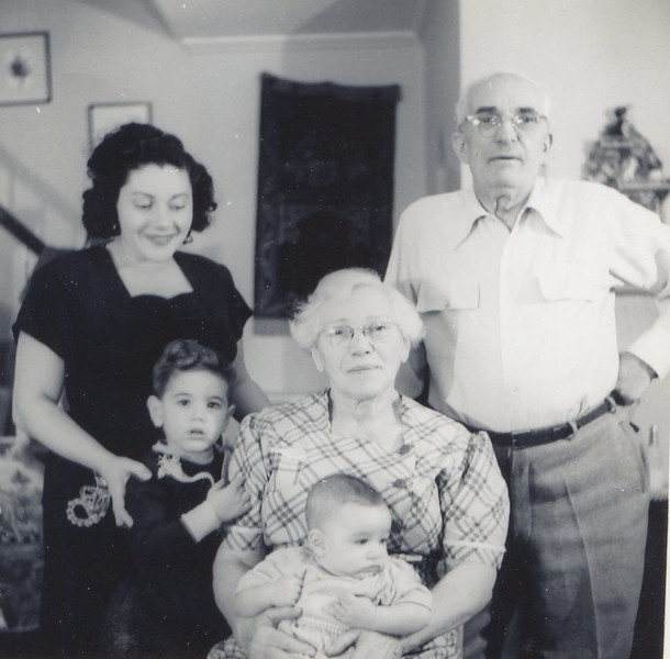 Tessie with Harry and Etta Klein and Richard and Steve