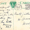 postcard from Morris to Molly in 1913 when Molly was 17, Morris was teaching latin at St. John's school and went by name Thomas, his middle name
