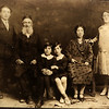 Picture from Ronnie Davidson of photo taken in Noua Sulita (a small town that was part of the austrian-hungarian empire till 1918, then part of Romania till 1943 and now part of the Ukraine.  The picture likely shows Morris and Yetta Kurtzman Swilling with two of their children and either his (Jacob and Marien Bedka Swilling) or her (Joseph and Lillian Kurtzman) parents before their departure for the US in 1893.