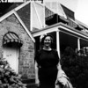 Molly Roth in front of her house, moved into 9819 74th avenue