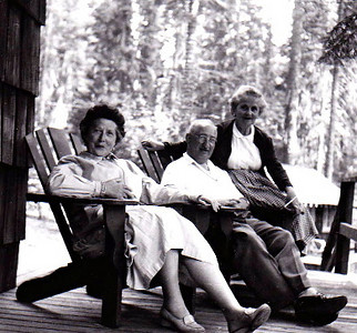 Molly with Henry and Mathilda Edelman