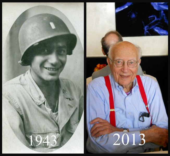 Leonard Miller during World War II and later in life