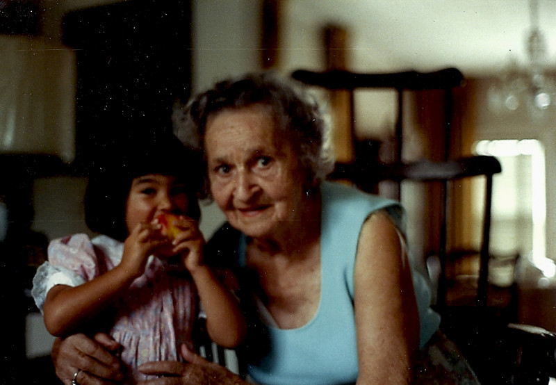 Melissa and great grandma Molly Swilling Roth