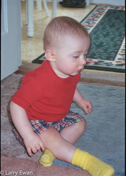 Steven at Grandma's.  August 1998.