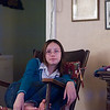 Becca resting in Great Grandpa's Rocker.