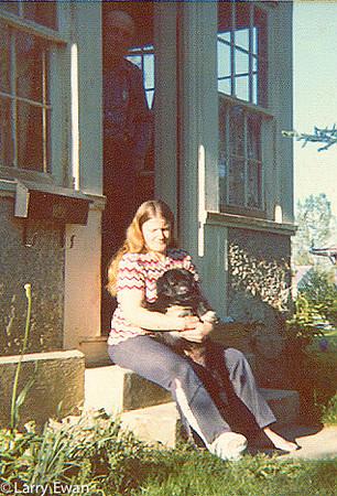 Snuffy, Carol and Dad.  June 1974.