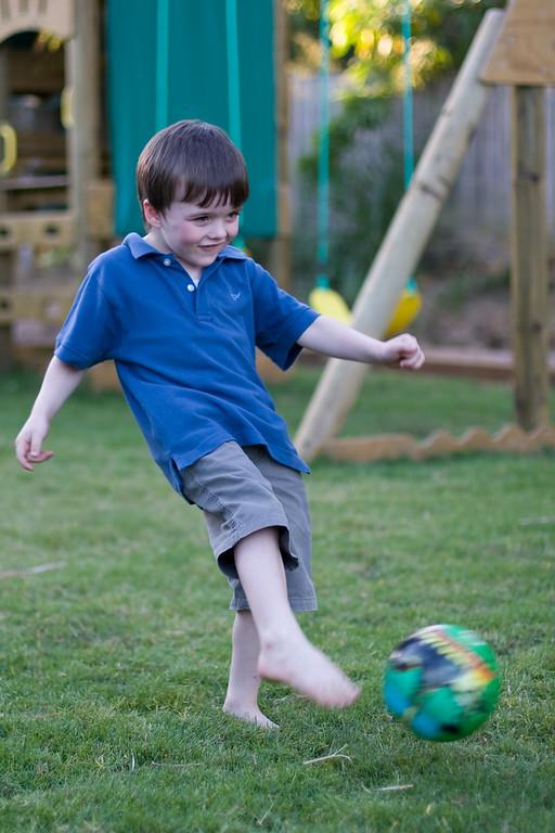 Soccer with the Madagascar ball