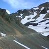 Alex crossing Ophir Pass