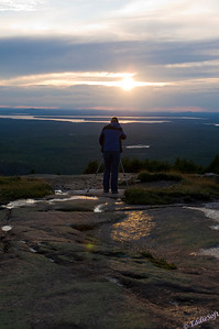 Linda capturing the sunset while on vacation at Acadia National Park June 2010