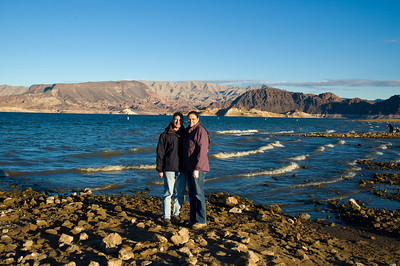 Brian and Linda at Lake Mead on their trip to Las Vegas over Thanksgiving 2010.  Trust me, it was extremely cold while we were there and our winter coats came in quite handy that week.