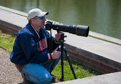 Brian taking some shots of Loch Ness at Allerton Park, Monticello 5/2011