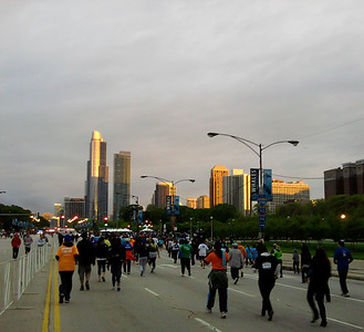 3.5 Corporate Chase Race May 26th, 2011 Chicago IL. 23K people participated - a view from the race course which allows you to take in the Chicago skyline.  Photo courtesy of Maria Hornstein