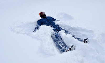 "You just cannot let 18"" of snow go by without at least one snow angel."