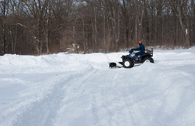 Brian was sure glad he plowed a couple of times the day before or the ATV would have been completely overwhelmed.