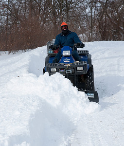 Keep in mind this is the THIRD time I have had to plow the driveway - the day before I plowed it twice to make room for all the snow that was coming down and it still was a load on the ATV.