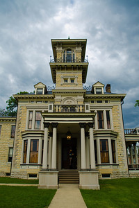 The reception was held at Renwick Mansion in Davenport, Iowa.
