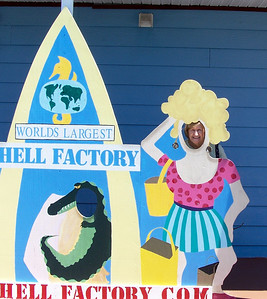 Mom having fun down in Florida - let's assume that she is at the [S]hell Factory