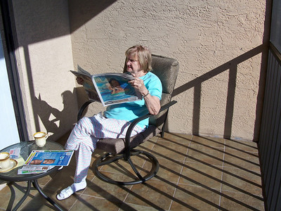 Mom relaxing in the spectacular Florida sun.