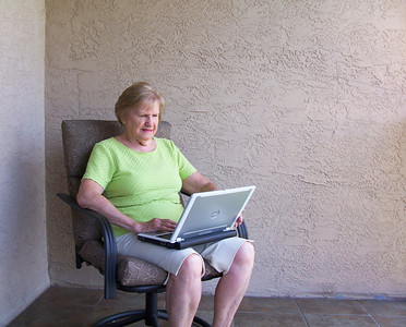 Mom surfing the Internet - keeping up on the boys probably.