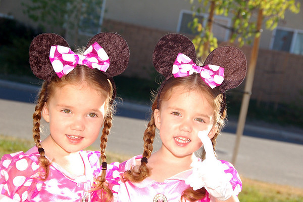 A pair of Minnie Mouses
