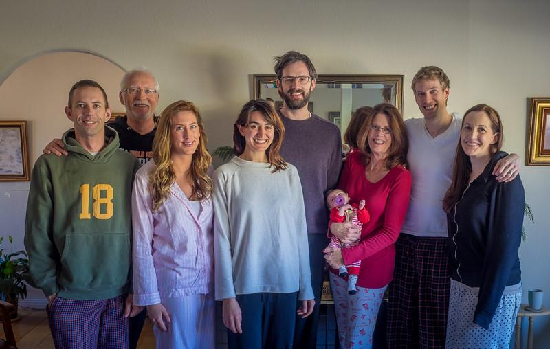 Pajamas Family Christmas 2014