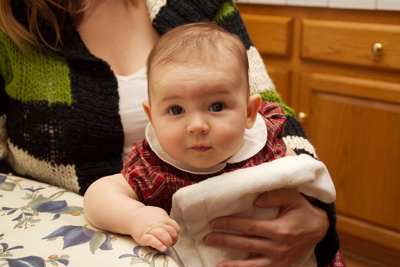 """My girlfriend holding my neice.  Little Carmen really loves the camera.  Ya, she has a blog... <a href=""""http://babycarmenbermejo.blogspot.com/"""">babycarmenbermejo.blogspot.com/</a>"""
